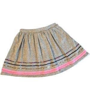 CARTER'S Skirt Skort Shorts Gray Pink Sparkle